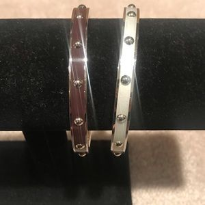 Two coach fashion bracelets